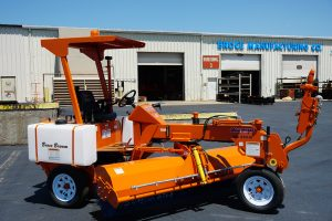Broce 250 3 wheel construction and street sweeper