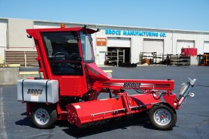 the Broce 260 3-wheel construction and street sweeper