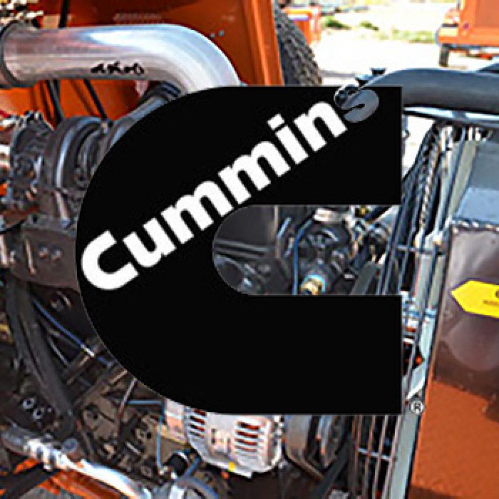 cummins engine in the 350 broce broom