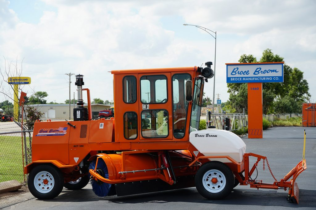Broce 350 road construction sweeper