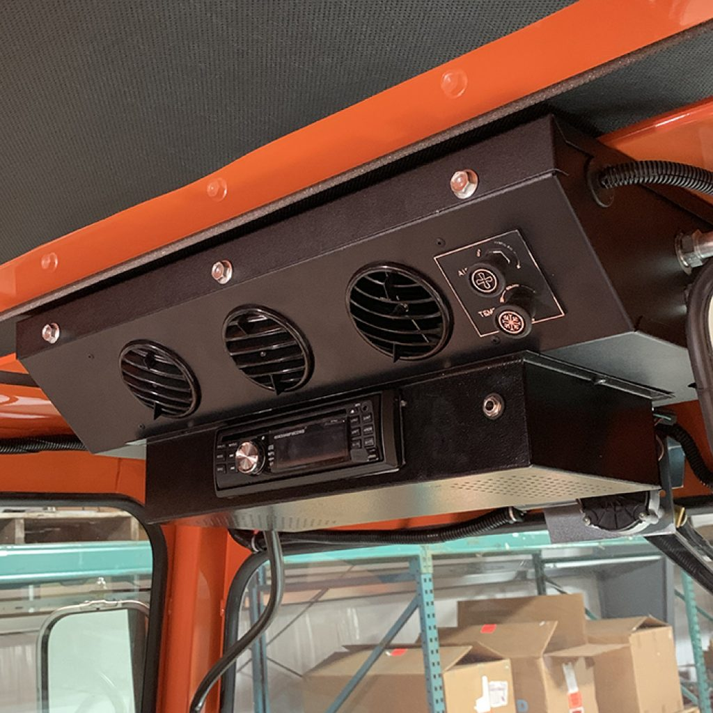 photo of a completed stereo installation in a Broce broom