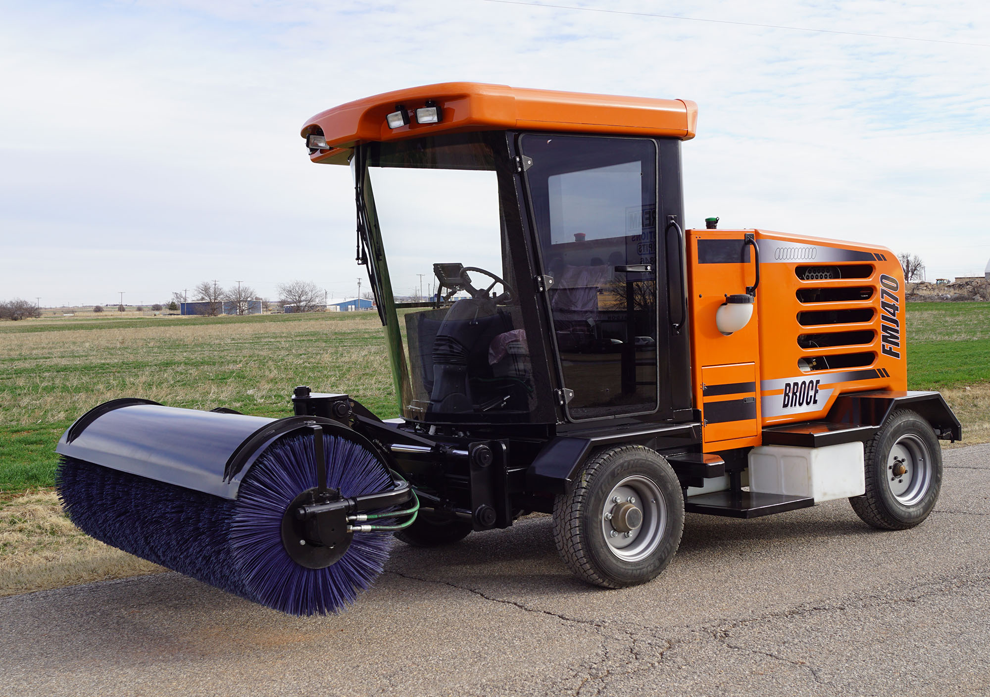 The Broce Front Mount Construction Sweeper FMJ470